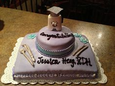 My grad party cake • dental hygiene
