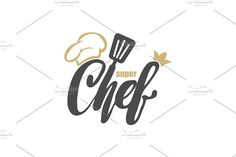 Lettering Hand lettering with a cap chef. by Happy Idea on Master Chef, Best Logo Design, Branding Design, Graphic Design, Face Line Drawing, Chef Logo, Restaurant Logo Design, Logo Face, Mascot Design