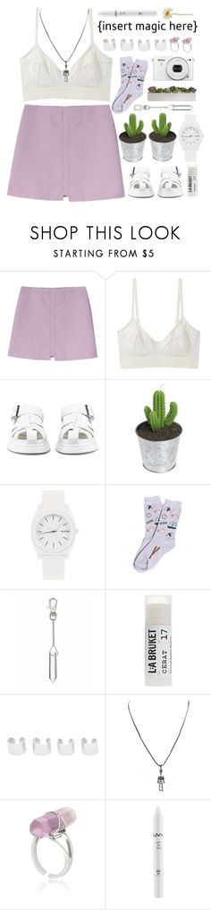 """""""*Magic.*"""" by my-black-wings ❤ liked on Polyvore featuring Base Range, Dr. Martens, Nixon, Foot Traffic, Toast, Maison Margiela, Wildfox and NYX"""