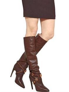 Knee High Dark Brown Boots