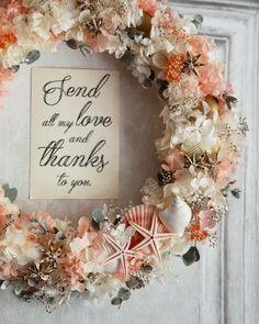 wreath bouquet for Ariel:シェルとスターフィッシュのリースブーケ&ブートニア | ハンドメイドマーケット minne