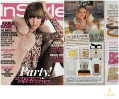 Ligne St Barth in the German Press: InStyle - featuring our Noel 2014 Christmas Candle www.LigneStBarth.com