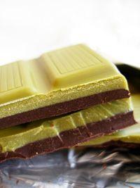czekolada deserowo-biała z zieloną herbatą