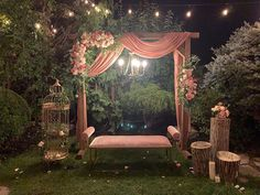 (C) Glamourous Affairs Inc. on Instagram | Stunning decor for your intimate Indian home wedding | Backyard decor ideas | Bride and groom seating | Bohemian pink decor | Indian wedding decor inspiration | Soft pinks | Mini weddings | #wittyvows #intimateweddings #backyard #decor #ideas #inspiration #bohemian #mehndi #haldi #bridalseat #wedding2020 #bridetobe #bride2020 #trending #diy #fairylights Birthday Balloon Decorations, Tent Decorations, Indian Wedding Decorations, Baby Shower Decorations, Home Wedding, Wedding Backyard, Birthday Packages, Party Organization, Fairy Lights