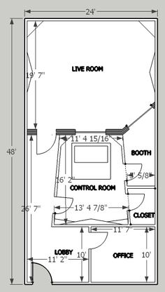 home music studio layout - Google Search