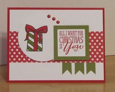 Christmas Card using Color Me Christmas by Stampin' Up! Inspired by the Mojo Monday 316 layout