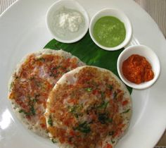 #VegUttapam A thick pancake made with rice batter with onion, tomatoes and chilies