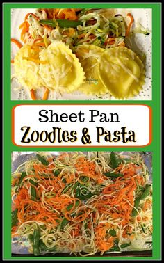 Recipe Box, Spring Sheet Pan Zoodles & Pasta | The Painted Apron