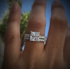 The beautiful petite crescent diamond details that Tacori is well known for is featured in this beautiful ring. If you're looking for a simplistic ring that will give you a bigger look, this Tacori solitaire engagement with accents is the way to go.