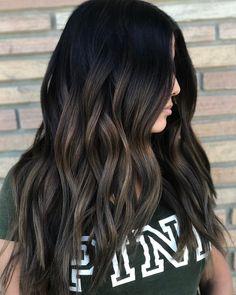 Soft Balayage for Raven Black Hair this wonderful ♥