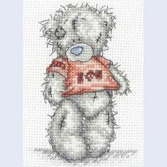 Me To You - Tatty Teddy - I Love You - counted cross stitch kit Coats Crafts