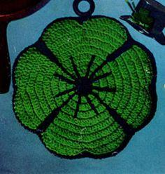Lucky Clover Potholder | Crochet Patterns ~ free pattern