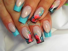 Фотография Wow Nails, Nails Only, Pretty Nails, Pretty Nail Designs, Nail Art Designs, Gothic Nails, Beach Nails, Finger, Luxury Nails