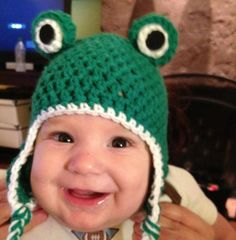 Ribbit!  Froggy hat hop to it by HuntandPeckHandmade on Etsy, $29.00