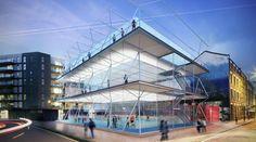 Бюро AL_A спроектировало многоярусное мини-футбольное поле для лондонских пустырей.