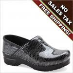 Dansko Shoes Black Scribble Patent