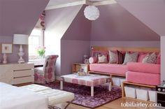 Fun, mod girl's bedroom design by Tobi Fairley
