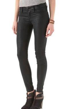 Blank Denim Spray On Skinny Jeans - look like leather!