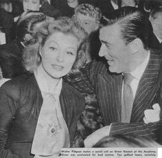 Greer Garson and Walter Pidgeon at the Academy Awards