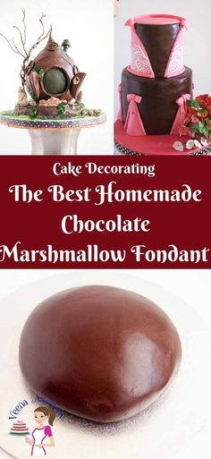 This homemade chocolate marshmallow fondant is a delicious sugar paste recipe with the taste of marshmallow and chocolate.  Made with real chocolate and cocoa powder for that rich chocolate taste. Weather you cover a cake, cookies or cupcakes this fondant is fun easy and quick to prepare