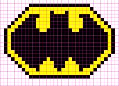 pixel Minecraft Pixel Art Free and easy to understand templates! Graph Paper Drawings, Graph Paper Art, Batman Logo, Batman Pixel Art, Pixel Pattern, Pattern Art, Pixel Art Templates Minecraft, Minecraft Blueprints, Minecraft Designs