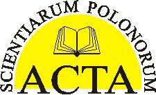 Acta Scientiarum Polonorum - seria Architectura  http://www.aqua.ar.wroc.pl/acta/pl/main.php?p=8=10=40=13=pl