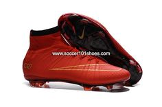 buy popular ca7fe 555ea Nike Kids Mercurial X Superfly IV FG High Top Football Shoes Soccer Boots  All Red  63.00