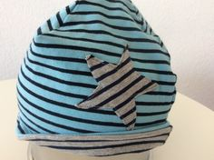 Bonnet en jersey bio á rayures avec étoile  Mode Bébé par l,univers,de,lisa