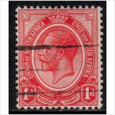 South Africa Scott 3 - SG4a, 1913 1d used stamps sur le France de eBid