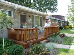 Lovely Deck Idea For Our Back Yard Front Decks On Ranch Houses
