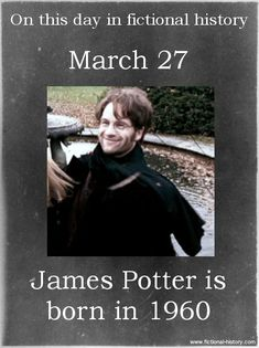 Harry Potter Series (Source) (Source) Name: James Potter Birthdate: March 1960 Sun Sign: Aries, the Ram Animal Sign: Metal Rat Harry Potter Pictures, Harry Potter Facts, Harry Potter Books, Harry Potter Love, Harry Potter Universal, Harry Potter Fandom, Harry Potter World, Harry Potter Characters Birthdays, Harry Potter Birthday