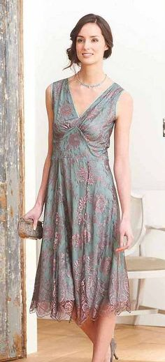 Kristen Lace Dress In Moth And Pink