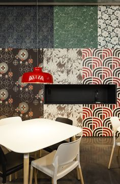 we have already determined that wallpaper is back but barcelona based architecture firm baas arquitectura has taken the trend to a new level