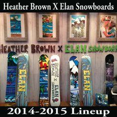 The Surf Art of Heather Brown: Surf Artist Heather Brown Teams up With Elan Snowb...