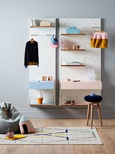 I would love this Wanda Shelving Systen from Cantilever for my room.  It is so pretty, and stylish.