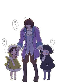aw... Chibitlia, Austria, and Holy Rome <3 the stuff with him like a dad is so cute source: http://www.pixiv.net/member_illust.php?mode=medium&illust_id=7634446