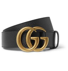 Fans of Gucci will certainly appreciate this belt's sizeable gold logo buckle. It's been made in Italy from black full-grain leather with a smooth backing and has a regular width that works with most jeans and trousers. Mens Gucci Belt, Black Gucci Belt, Gucci Fashion, Mens Fashion, Trendy Fashion, Luxury Belts, Louis Vuitton Belt, Designer Belts, Shopping