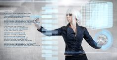 Future Girl, Futuristic, Interactive Display, Interactive Wall, White by *Elisanth on deviantART