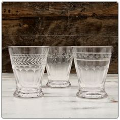 Use these for water glasses on the dinner tables
