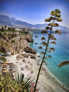 Spain Travel Inspiration - Nerja, Andalucia - view from Balcón de Europa One of the nicest beaches I've ever been too Places To Travel, Places To See, Places In Spain, Andalucia Spain, Destination Voyage, Spain And Portugal, Spain Travel, Beautiful Beaches, Wonderful Places