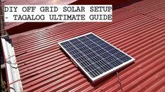 YouTube Off Grid Solar Power, Solar Power System, Tagalog, Off The Grid, Solar Panels, Outdoor Decor, Youtube, Diy, Sun Panels