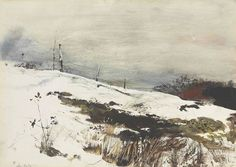 Andrew Newell Wyeth - Over The Hill 1953 Andrew Wyeth Paintings, Andrew Wyeth Art, Jamie Wyeth, Watercolor Landscape, Landscape Art, Landscape Paintings, Landscapes, Barn Paintings, Landscape Quilts