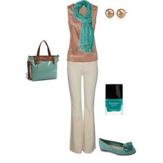 Sophisticated neutrals with turquoise accents!