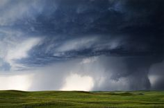 Nature Unleashed | #Tornado #storm #thunderstorm #weather #blue #field