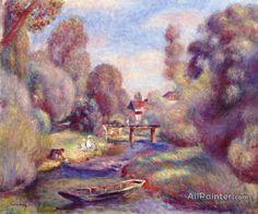Pierre Auguste Renoir The Footbridge At Essoyes oil painting reproductions for sale