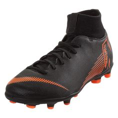 d1052bcdf5a Nike Youth Junior Mercurial Superfly 6 Club MG FG Kids Cleats (Black Orange)