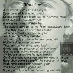 Rooster Alice in chains Lyrics
