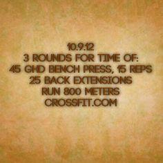 WOD 10.9.12 Crossfit