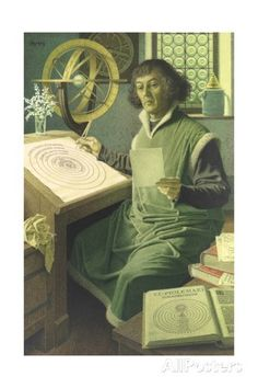 An Illustration of Copernicus at Work in His Study Giclée-Druck