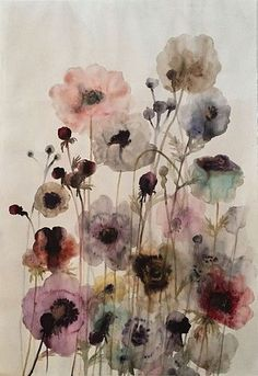 Abstract Watercolor, Watercolor Illustration, Watercolour Painting, Watercolor Flowers, Watercolor Pictures, Watercolor Artists, Abstract Oil, Abstract Paintings, Oil Paintings